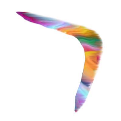 Rainbow ZigZag Boomerang